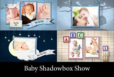 Baby themed photo slideshow motion montage