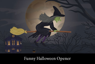 Promo with Witch on Broomstick